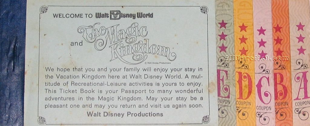 The History Of Walt Disney World Tickets Part 1