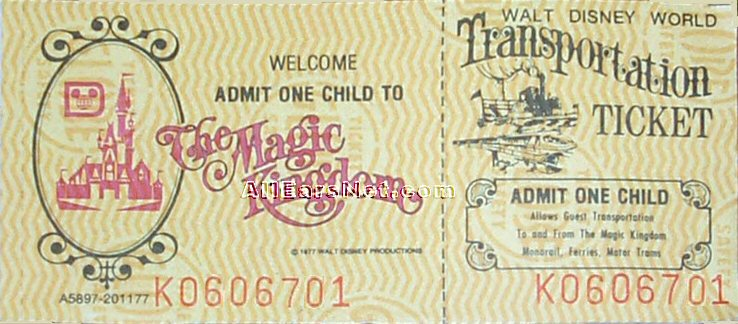 The History Of Walt Disney World Tickets