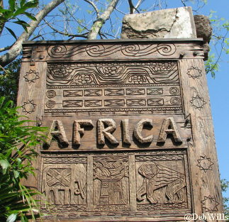 Entrance Sign for Africa in Animal Kingdom