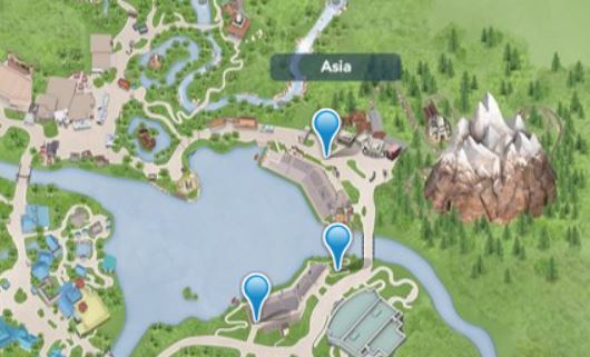 Rivers of Light Map