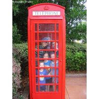Packing the telephone booth - escaping the rain