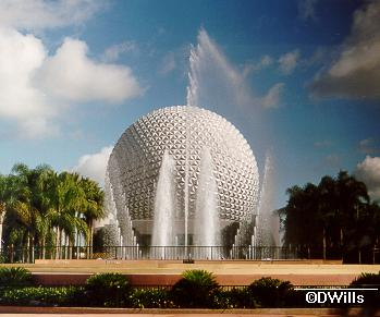 Innovention Fountains and Spaceship Earth