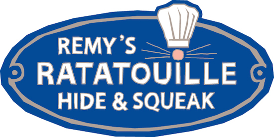 Ratatouille Hide and Squeak Logo