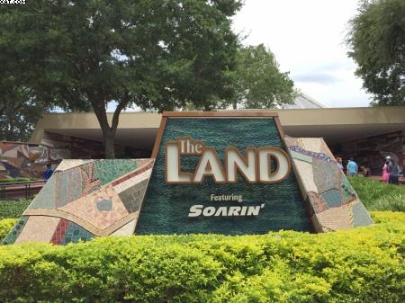 The Land Future World - Epcot The Land Signage