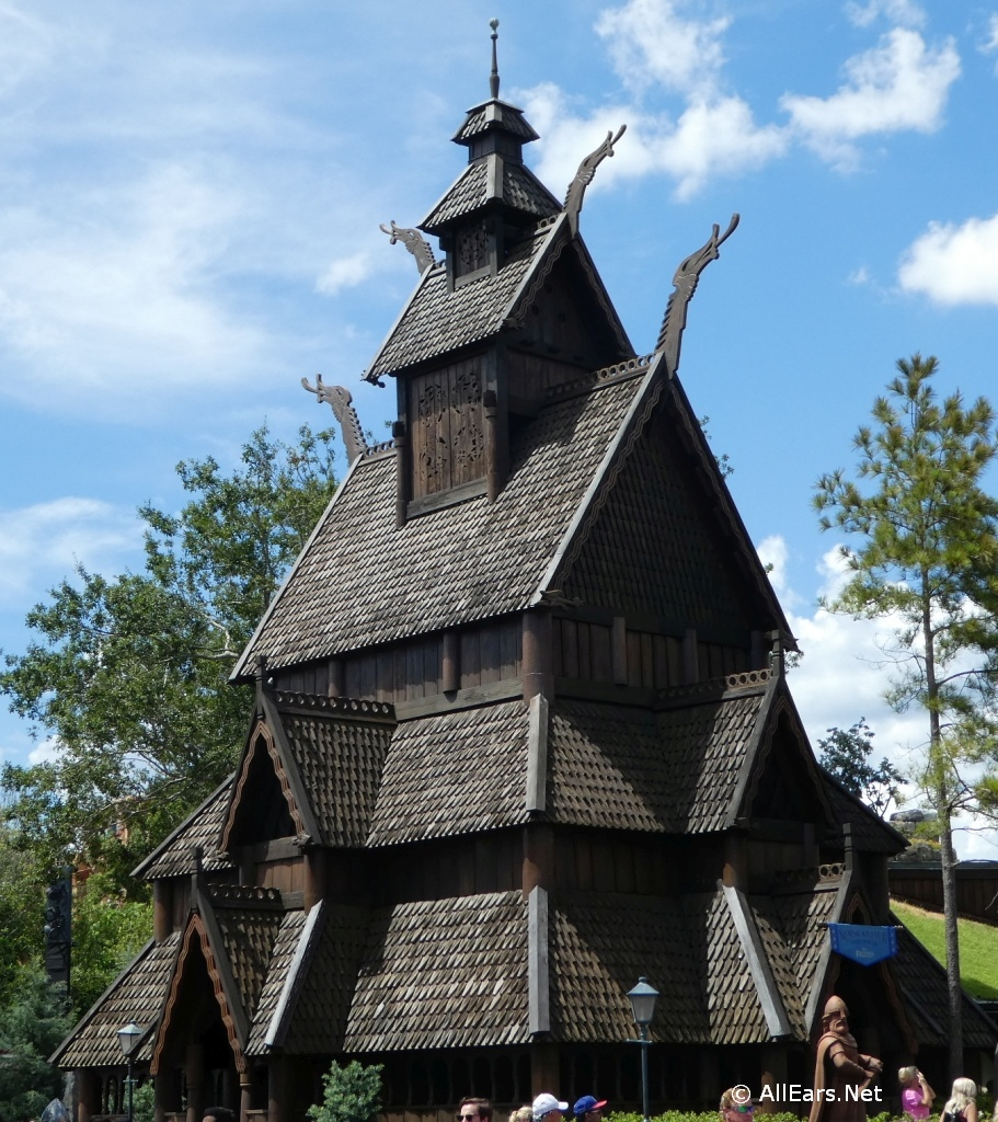 Norway Pavilion Stave Church in Epcot - Walt Disney World