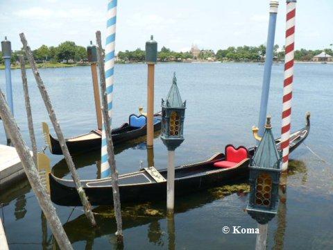 Gondolas in Epcot