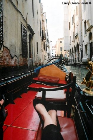 Riding a Gondola in Venice
