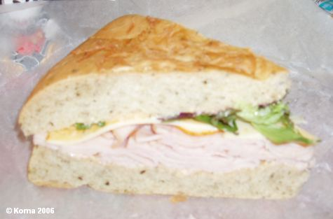 Turkey Muffuletta at Sunshine Seasons