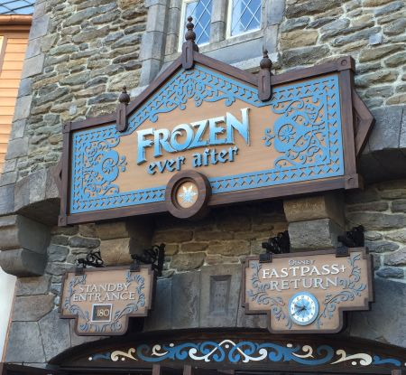 Frozen Ever After Signage