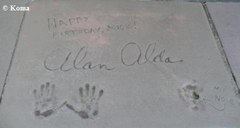 Alan Alda Handprints