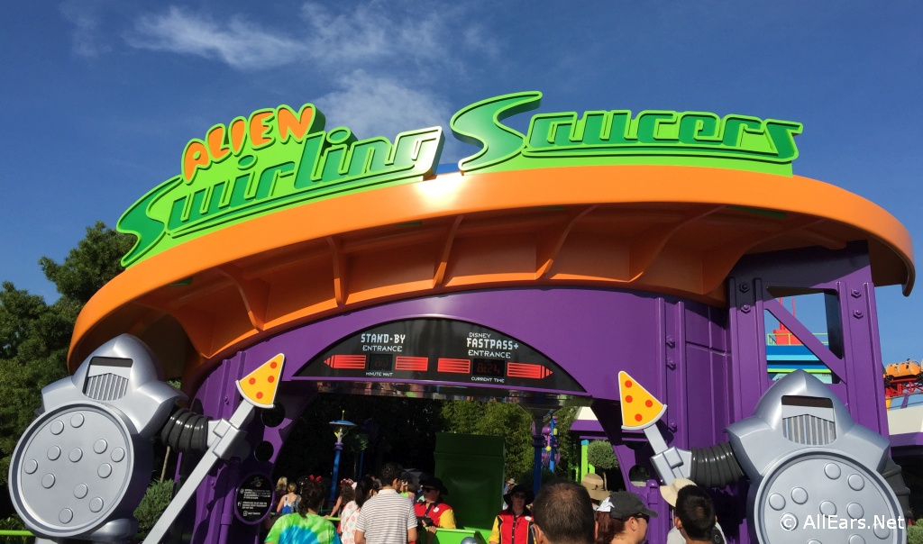 Alien Swirling Saucers Entrance