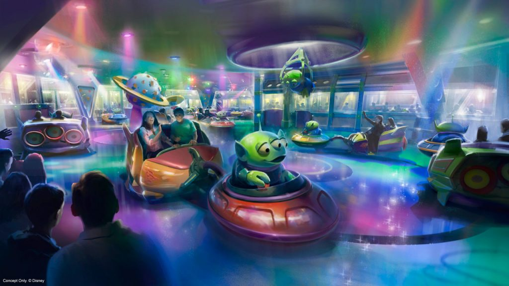 Alien Swirling Saucers Rendering