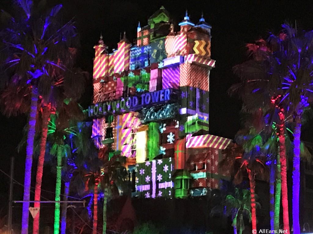 Sunset Seasons Greetings Disneys Hollywood Studios Allears