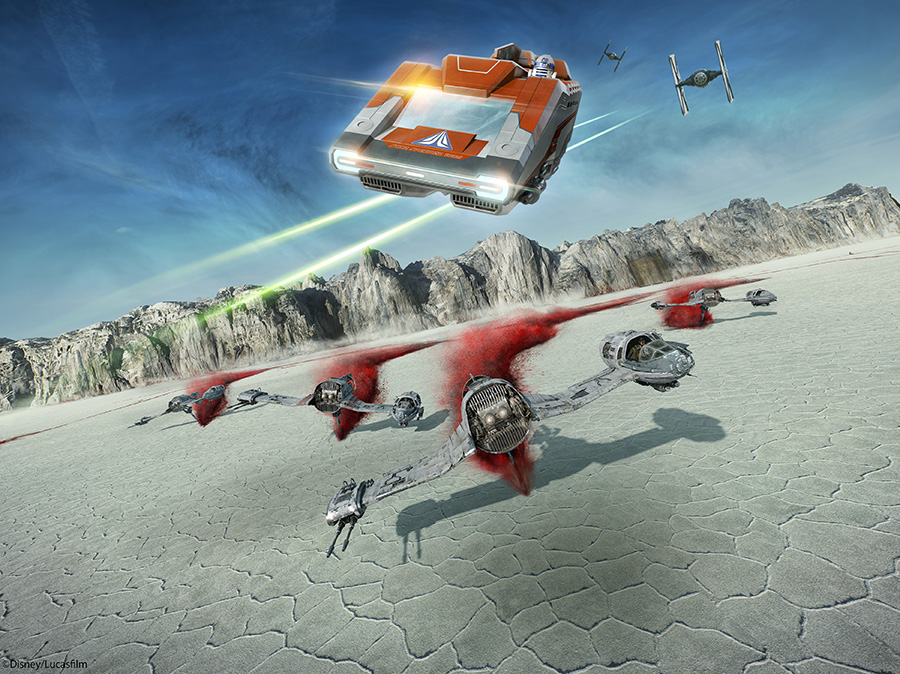 New Star Tours Scene on Crait
