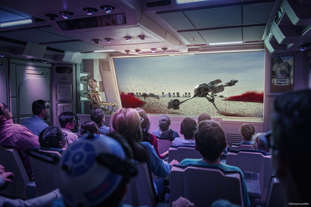 Star Tours New Crait Scene