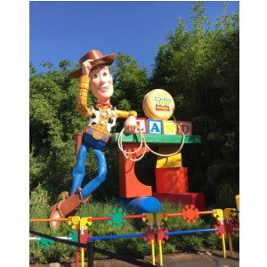 Woody from Toy Story Land