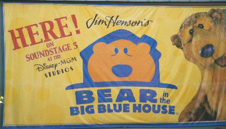 note the bear in the big blue house show closed on august 4 2001 playhouse disney live has taken its place the new show includes stars from rolie polie - Big Blue House