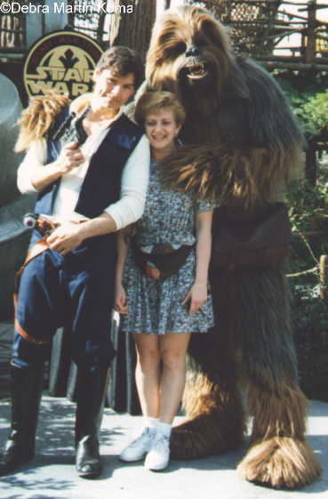 Deb Koma with Han and Chewie
