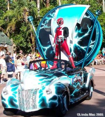 Power Ranger in Stars and Motor Cars Parade