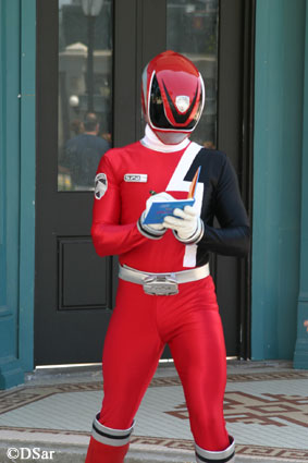 Power Ranger signing autographs