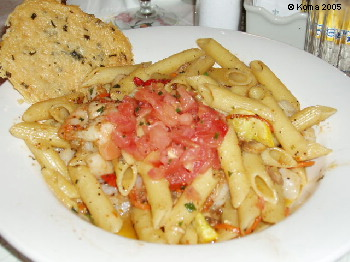 Seafood Primavera at the Prime Time