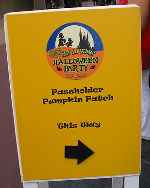 Entrance Sign for Annual Passholder Event