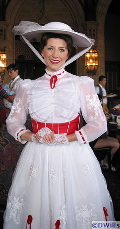 Mary Poppins at Cinderella's Breakfast
