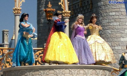 The Princesses - Jasmine, Snow White, Aurora and Belle