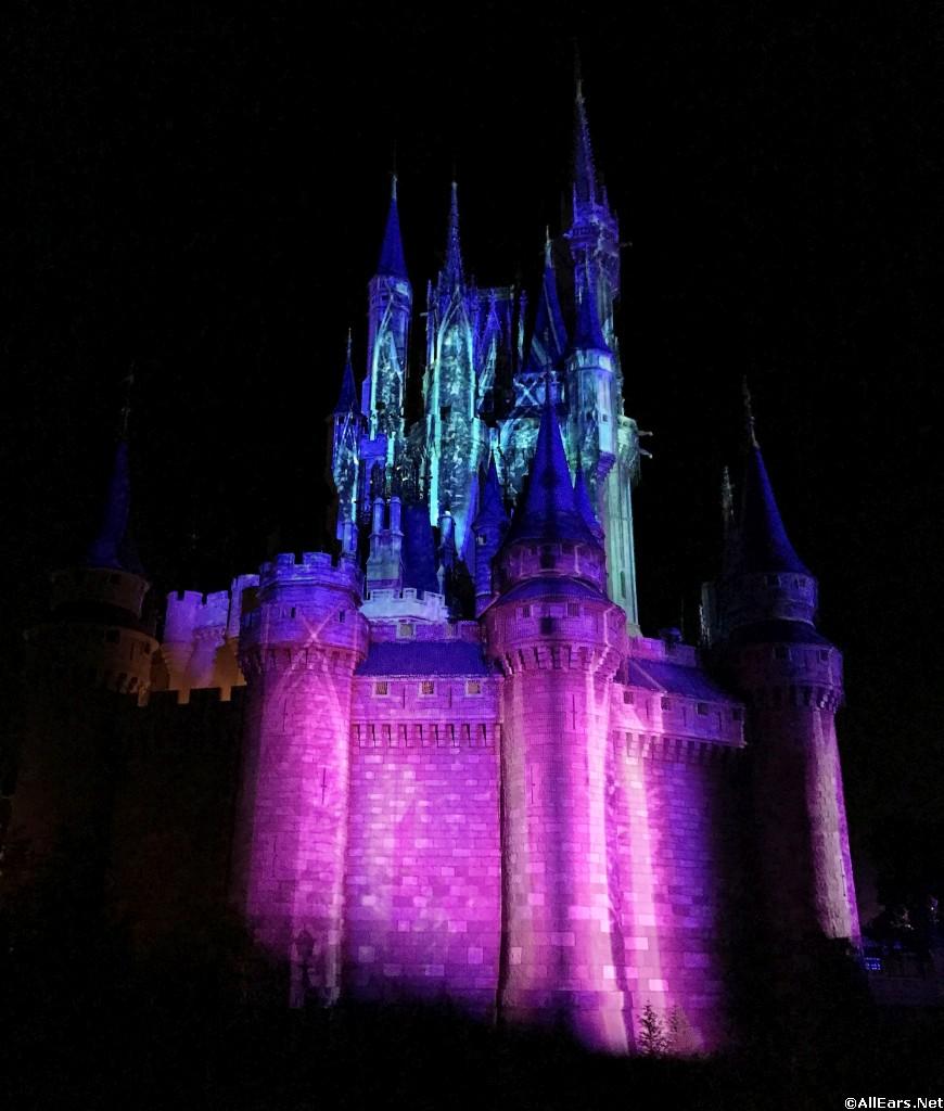 Frozen Holiday Wish Castle Lighting Magic Kingdom