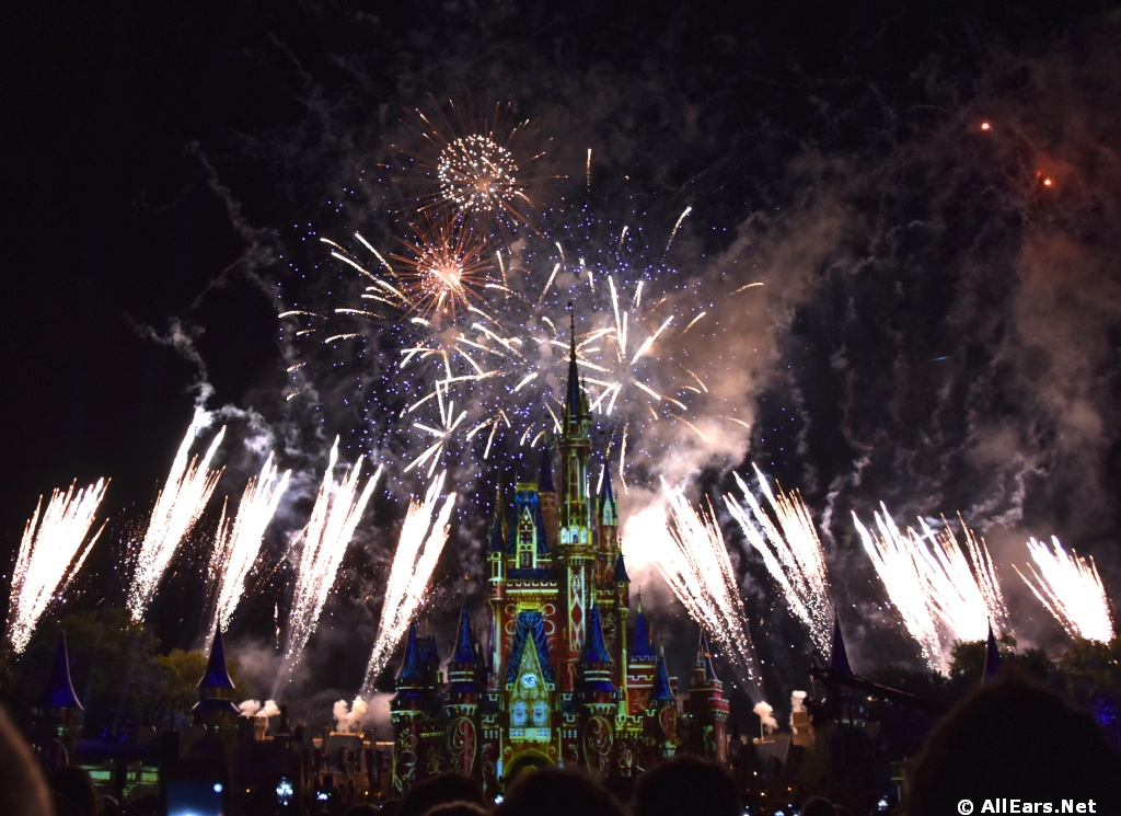 happily ever after fireworks at the magic kingdom