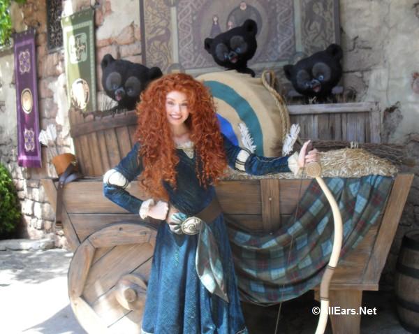 Merida From Brave In The Fairytale Garden In Magic Kingdom