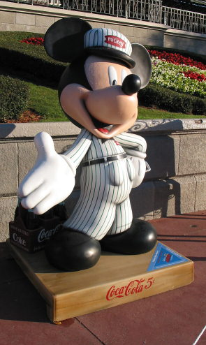 Delivery Man MIckey Statue