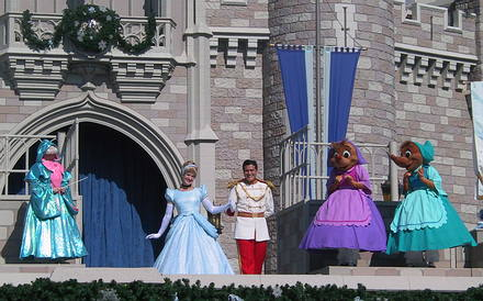 Fairy Godmother, Cinderella, Prince Charming,