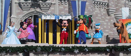 Cinderella, Minnie, Mickey, Goofy, Donald and Pluto