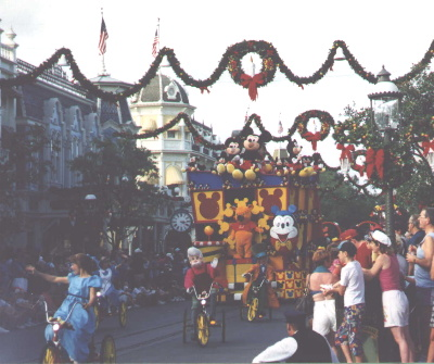 Mickey Float at Christmas
