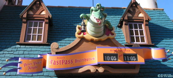 Peter Pan Fast Pass Sign