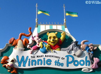 Pooh ride sign
