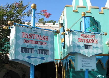 FastPass entrance sign