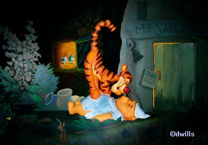 Tigger at Many Adventures of Winnie the Pooh at Walt Disney World