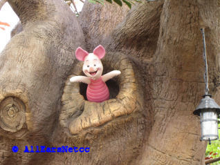 Piglet Peeking out of Pooh's Tree