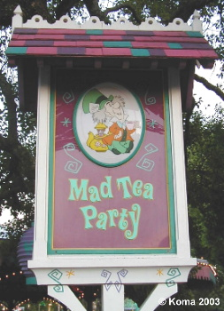 Mad Tea Party Sign
