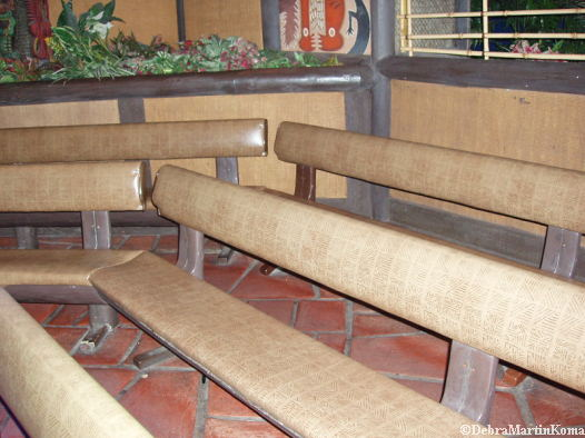 Tiki Room Bench Seats